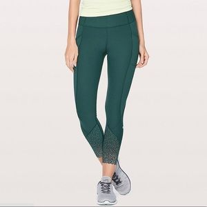 "Lululemon Tight Stuff Tight II *25"" Deep Green"